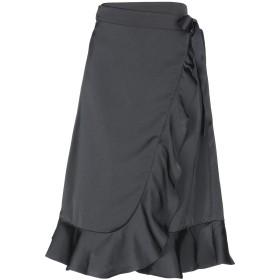 《期間限定 セール開催中》BY MALINA レディース 7分丈スカート ブラック XS ポリエステル 100%