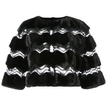 Carolina Herrera ミンクファー ケープジャケット - ブラック