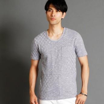 [マルイ]【セール】市松柄UネックTシャツ/ニコルクラブフォーメン(NICOLE CLUB FOR MEN)