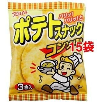 やおきん ポテトスナックコンソメ風味 ( 3枚入15袋セット )