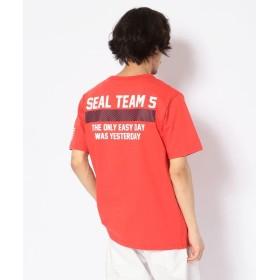 【30%OFF】 アヴィレックス シールチーム 5 Tシャツ/T SHIRT SEAL TEAM 5 メンズ ORANGE L 【AVIREX】 【セール開催中】
