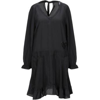 《セール開催中》MY TWIN TWINSET レディース ミニワンピース&ドレス ブラック S キュプラ 60% / レーヨン 40% / ポリエステル