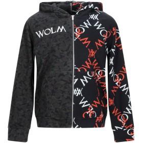 《期間限定セール開催中!》WOLM メンズ スウェットシャツ ブラック S コットン 100%