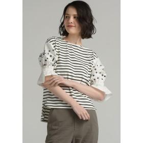MAYSON GREY 袖星カットワーク刺繍プルオーバー Tシャツ・カットソー,ホワイト系その他