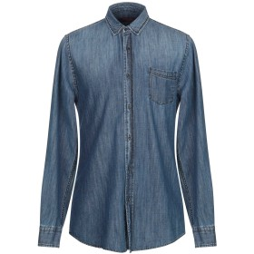 《期間限定 セール開催中》TRUSSARDI JEANS メンズ デニムシャツ ブルー 38 コットン 100%