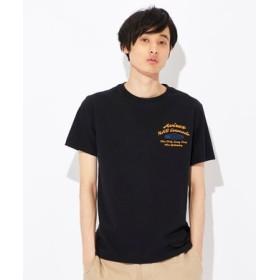 AVIREX ピンナップガールプリントTシャツ メンズ ブラック