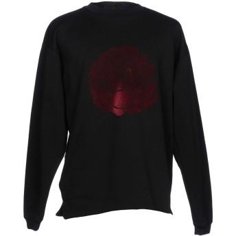 《期間限定セール開催中!》PAURA メンズ スウェットシャツ ブラック XL コットン 100%