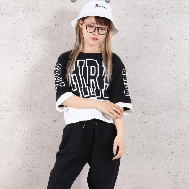 Tシャツ - sevens GIRLロゴ切替ショートTシャツ