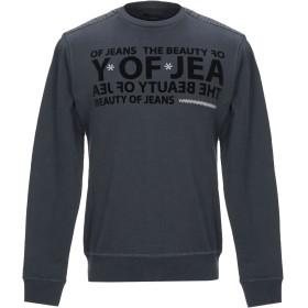 《期間限定 セール開催中》YES ZEE by ESSENZA メンズ スウェットシャツ ダークブルー S コットン 100%