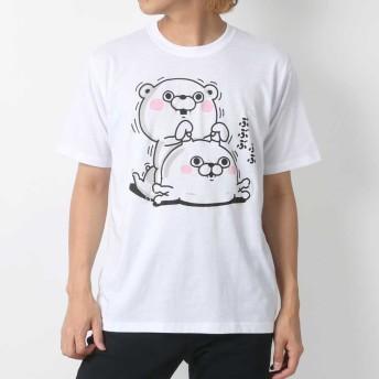 Tシャツ - MARUKAWA ヨッシースタンプ Tシャツ メンズ 夏 キャラクター プリント 半袖 ホワイト/ピンク/レッド M/L/LL【 ティーシャツ ヨッシーLINE スタンプ うさぎさん くまさん おもしろ かわいい】