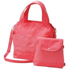 親子で使えるバッグ ■カラー:ピンク系/水玉