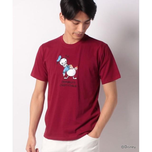 【33%OFF】 マルカワ ディズニー 刺繍 半袖Tシャツ メンズ 柄4 L 【MARUKAWA】 【セール開催中】