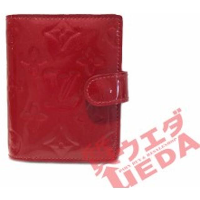 94cc5e56c0 【栄】 ルイヴィトン ヴェルニ アジェンダミニ ポムダムール 赤系 手帳カバー R21024