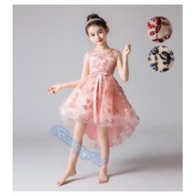 43153615b6221 子供服 キッズ 女の子ドレス わんぴ ノースリーブ ピアノ演奏会 誕生ドレス ピンク レッド ブルー
