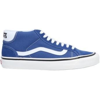《セール開催中》VANS メンズ スニーカー&テニスシューズ(ハイカット) ブルー 13 革 / 紡績繊維