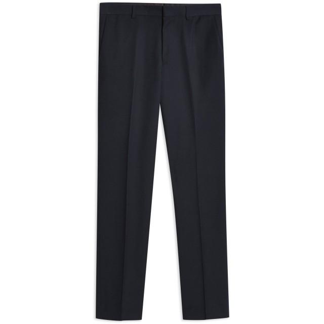 《9/20まで! 限定セール開催中》TOPMAN メンズ パンツ ダークブルー 28 ポリエステル 67% / レーヨン 33% NAVY TEXTURED SLIM FIT SUIT TROUSERS