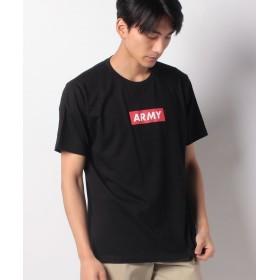 【23%OFF】 ウィゴー WEGO/ARMYボックスロゴTシャツ ユニセックス ブラック M 【WEGO】 【セール開催中】