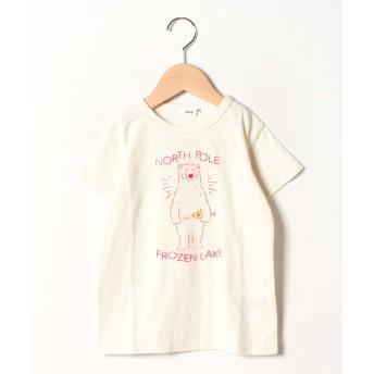 【50%OFF】 コエ シロクマグラフィック半袖Tシャツ レディース アイボリー 130 【koe】 【セール開催中】