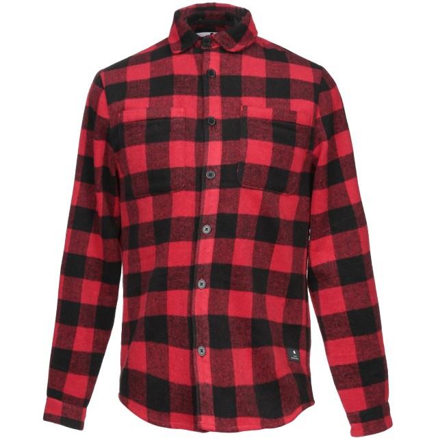 《期間限定セール開催中!》RVLT/REVOLUTION メンズ シャツ レッド S ポリエステル 90% / ウール 10%