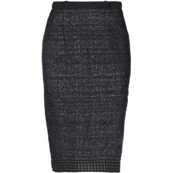 《セール開催中》NEERA レディース ひざ丈スカート ブラック 40 バージンウール 50% / ナイロン 30% / レーヨン 15% / Lurex 5%