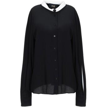 《セール開催中》CAVALLI CLASS レディース シャツ ブラック 38 アセテート 63% / シルク 37%