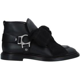 《セール開催中》AGL ATTILIO GIUSTI LEOMBRUNI レディース ショートブーツ ブラック 37 革 / 紡績繊維