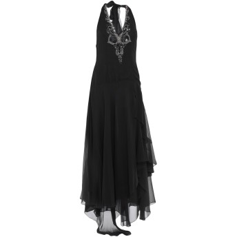 《セール開催中》GAI MATTIOLO レディース ロングワンピース&ドレス ブラック 46 シルク 100%