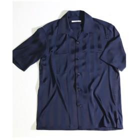 【20%OFF】 メンズビギ シャドウストライプオープンカラーシャツ メンズ ネイビー M 【Men's Bigi】 【セール開催中】