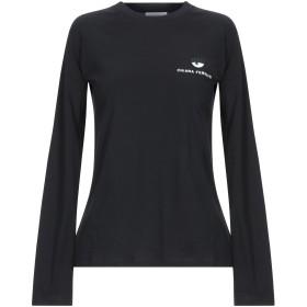 《期間限定 セール開催中》CHIARA FERRAGNI レディース T シャツ ブラック XS コットン 100%