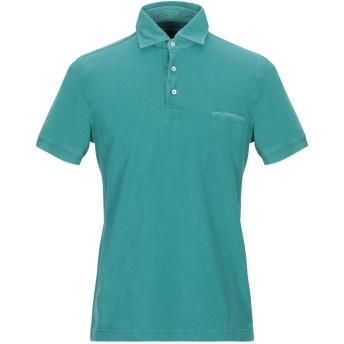 《9/20まで! 限定セール開催中》DELLA CIANA メンズ ポロシャツ エメラルドグリーン 48 コットン 100%