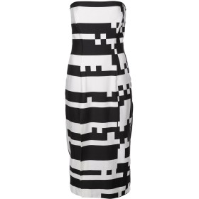 Halpern ジオメトリック ドレス - ホワイト