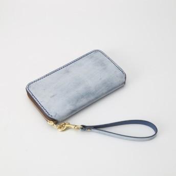 【切線派】大容量牛革手作りファスナー長財布トラベルケース 女性財布 手染め / 総手縫い
