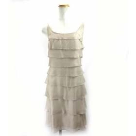 【中古】ドゥーズィエムクラス DEUXIEME CLASSE ティアードワンピース ドレス シルク ベージュ レディース