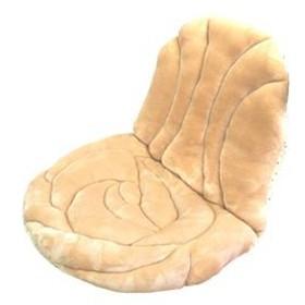 座椅子クッション(ローズ) 82cm×42cm クッションカラー:ベージュ【代引不可】