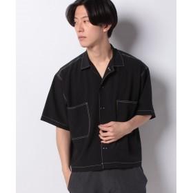 【46%OFF】 ウィゴー 配色ステッチBIGシャツ(5) メンズ ブラック M 【WEGO】 【タイムセール開催中】