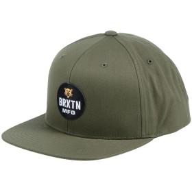《期間限定 セール開催中》BRIXTON メンズ 帽子 ミリタリーグリーン one size コットン 60% / ポリエステル 40%