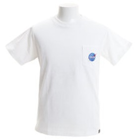 【Super Sports XEBIO & mall店:トップス】NASA×B ONE SOUL ポケット刺繍 半袖Tシャツ3 9570906-WHT