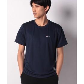 【22%OFF】 マルカワ フィラ ドライ ワンポイント刺繍 半袖Tシャツ メンズ ネイビー M 【MARUKAWA】 【タイムセール開催中】