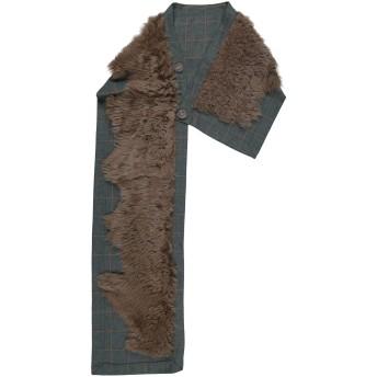 《9/20まで! 限定セール開催中》KARL DONOGHUE レディース マフラー グリーン one size ウール / 羊革(ラムスキン)