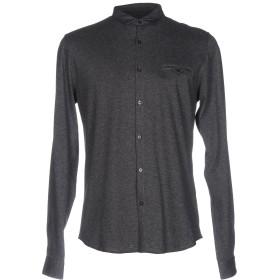 《期間限定セール開催中!》INDIVIDUAL メンズ シャツ グレー S 100% コットン
