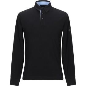 《期間限定セール開催中!》LES COPAINS メンズ ポロシャツ ブラック S コットン 100%