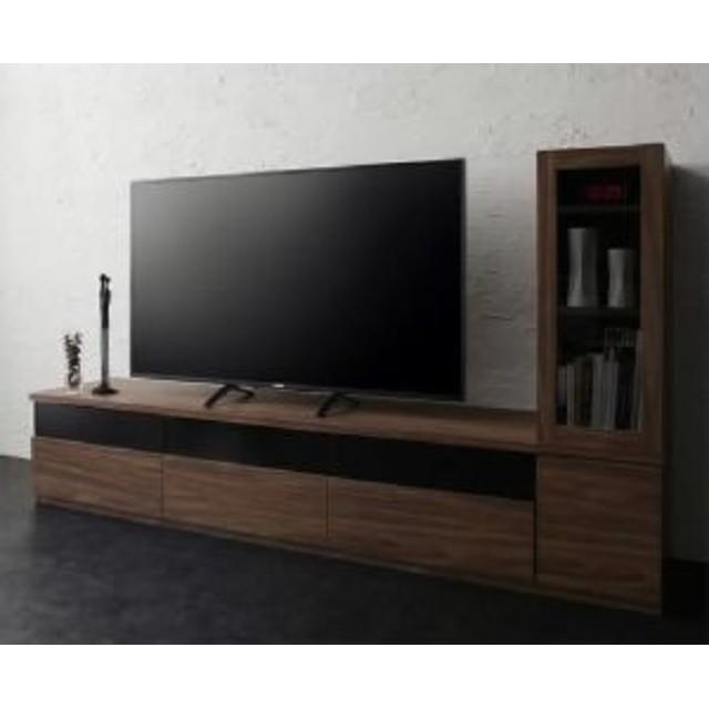 収納・キャビネットが選べるテレビボードシリーズ 2点セット(テレビボード+収納・キャビネット) ガラス扉 (幅 180cm)(高さ 40cm)(奥行 45