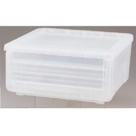 HOME COORDY 引出し式収納ボックス ホームコーディ クリア 約幅45×奥行40×高さ22cm 衣類ケース・プラチェスト