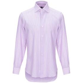 《期間限定セール開催中!》CASTANGIA メンズ シャツ ライトパープル 39 コットン 71% / 麻 29%