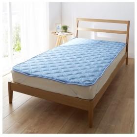 超冷感!接触冷感×吸汗速乾(防ダニ。抗菌防臭)の敷パッド 敷きパッド・ベッドパッド