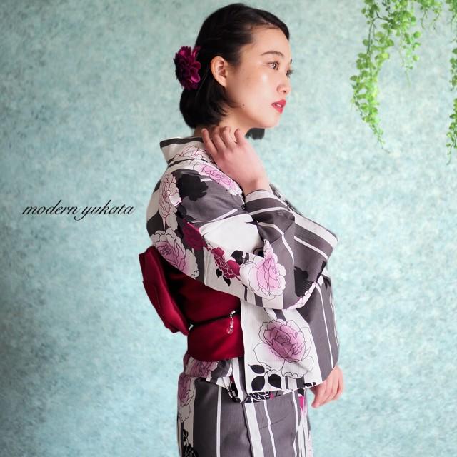 1fa70c0a3fcfc7 浴衣 - Ainokajitsu 女性浴衣 レディース浴衣 浴衣 単品 浴衣単品 レトロ 仕立て上がり 変わり織り