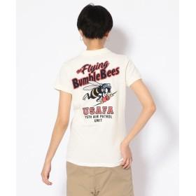 【35%OFF】 アヴィレックス #刺繍ポロシャツ/ EMBROIDERY POLO SHIRT レディース WHITE M 【AVIREX】 【セール開催中】