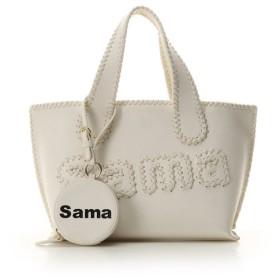 サマンサタバサ サマタバトートバッグ 小 レディース ホワイト FREE 【Samantha Thavasa】