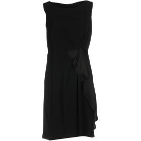《送料無料》MARIELLA ROSATI レディース ミニワンピース&ドレス ブラック 48 アセテート 60% / レーヨン 40%