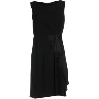 《セール開催中》MARIELLA ROSATI レディース ミニワンピース&ドレス ブラック 48 アセテート 60% / レーヨン 40%